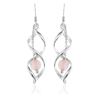 ornami quartz open twisted silver drop earrings lmzhvdj