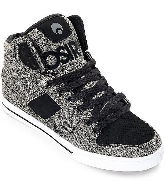 osiris shoes osiris clone black u0026 grey knit skate shoes dbmgixf