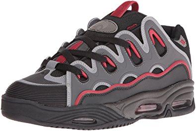 osiris shoes osiris menu0027s d3 2001 skateboarding shoe, black/red/black, ... humfadu