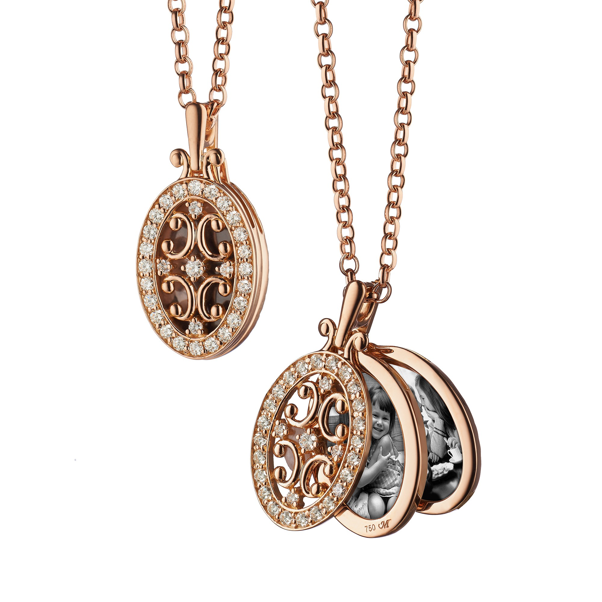 oval gate locket necklace in rose gold fyidefe