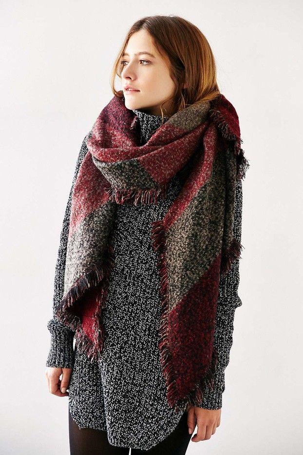 oversized scarf urban outfitters oversized geo blanket scarf ebkzgsw