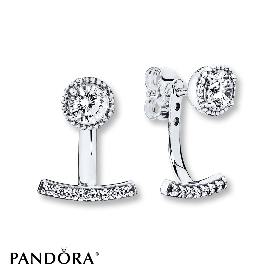 pandora earring jackets abstract elegance sterling silver extsyzp