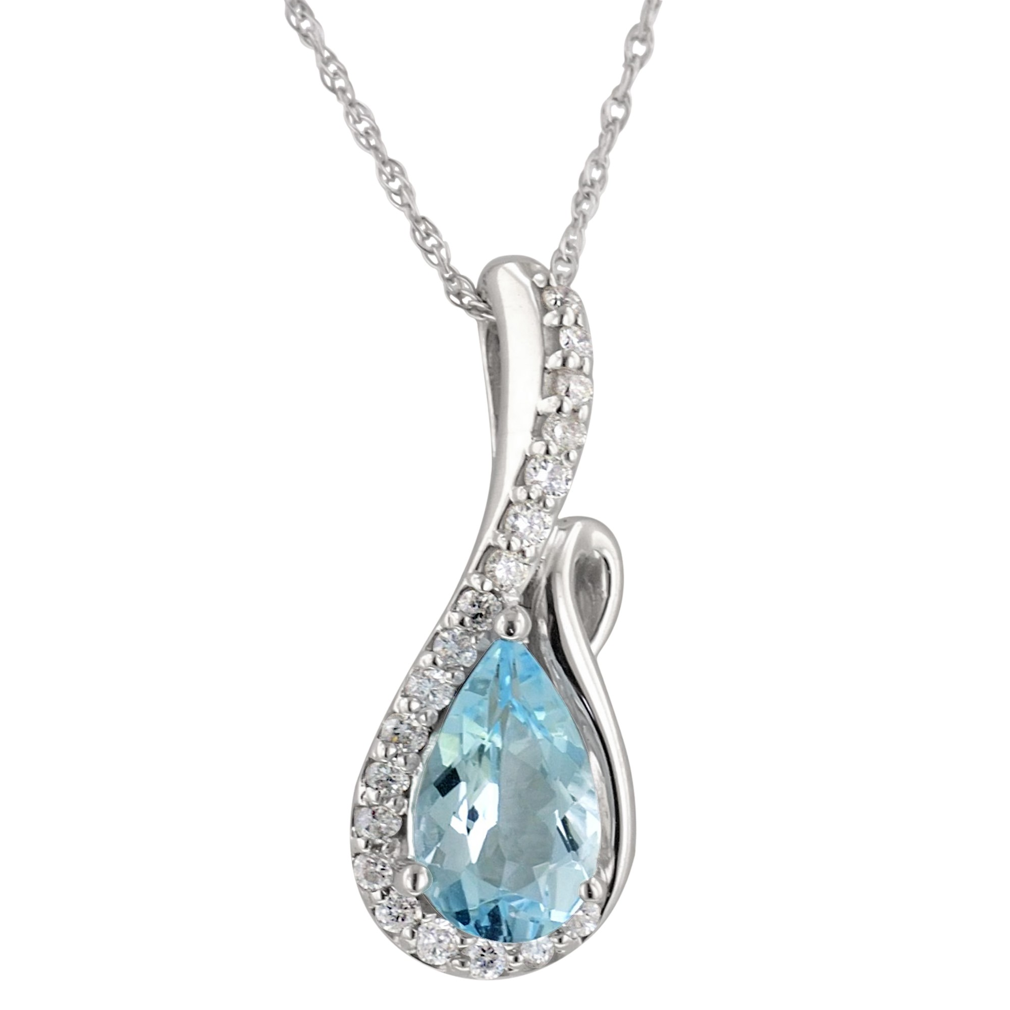 gold qp in aquamarine pendant necklace and pearl jewellers