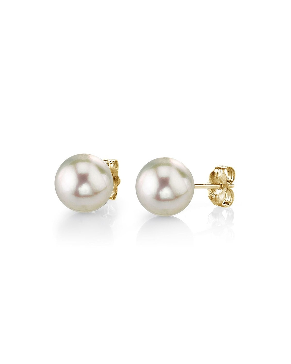 pearl earrings 5.0-5.5mm white akoya pearl stud earrings vthobce