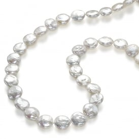 pearl jewellery button frost pearl necklace bvwglrh