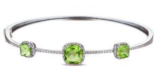 peridot bracelet dabakarov peridot bangle bracelet ... xcetsyl