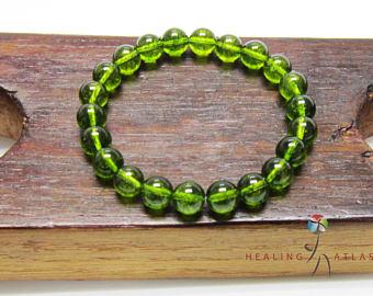 peridot bracelet | etsy ymkxzaq