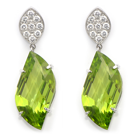 peridot gemstone earrings vwqhbcg
