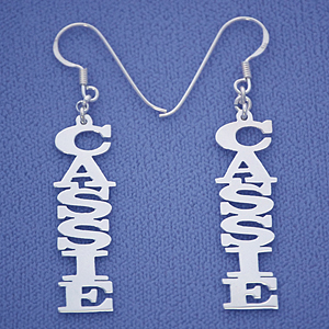 personalized sterling silver vertical dangling name earrings syuqfaz