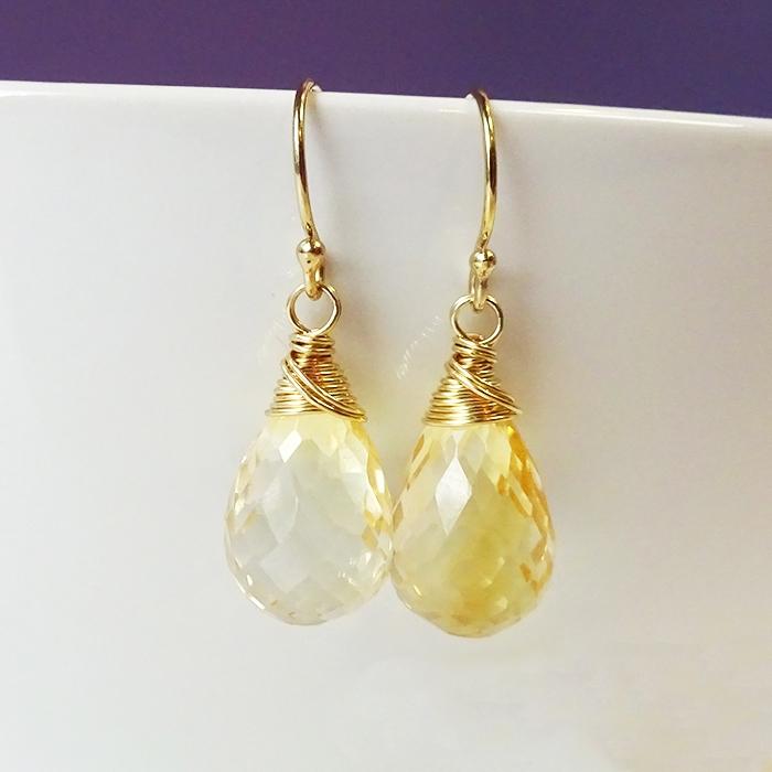 picture of citrine earrings kvytjgu
