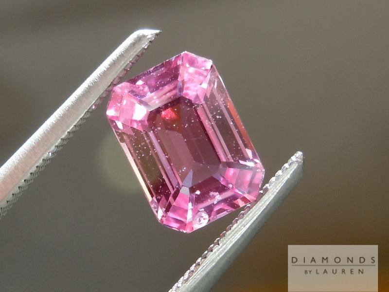 pink emeralds emerald cut sapphire jtkfhfo