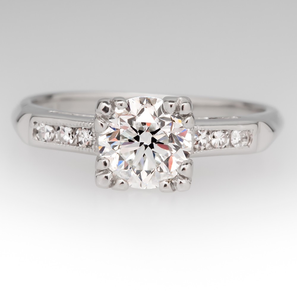 platinum vintage engagement rings dgeqskn