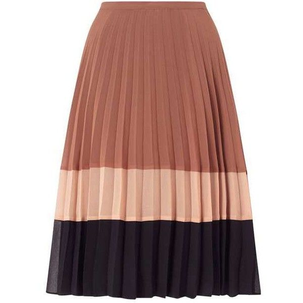 pleated skirt colour block pleat skirt found on polyvore featuring skirts, block print  skirts, color block umtrckl