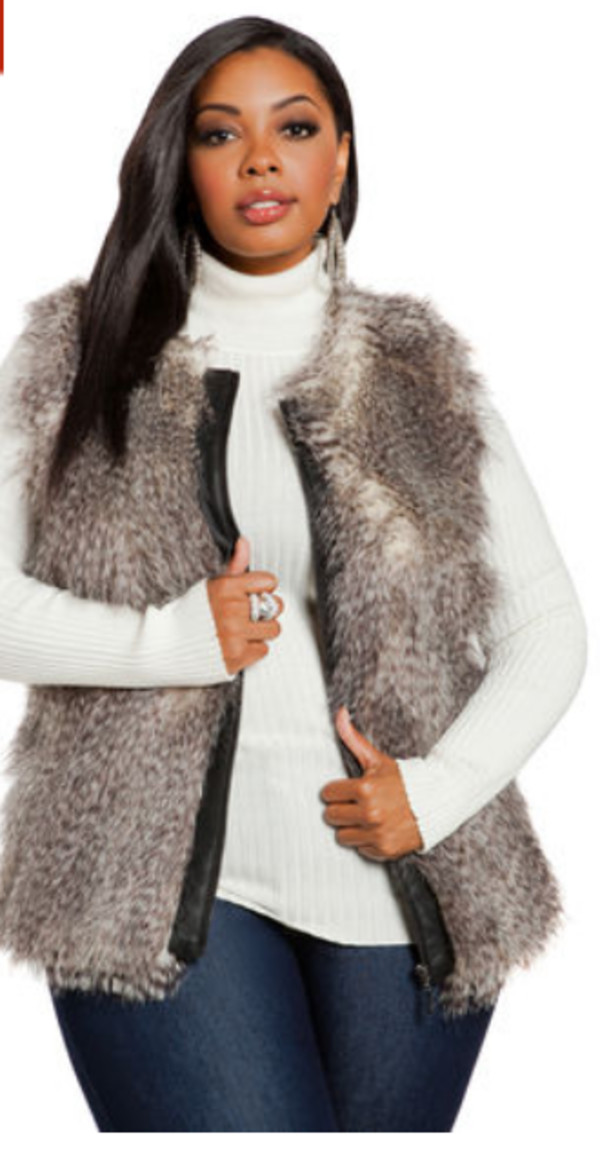 plus size fur vest coat: vest, faux fur vest, plus size coat - wheretoget rtomruz