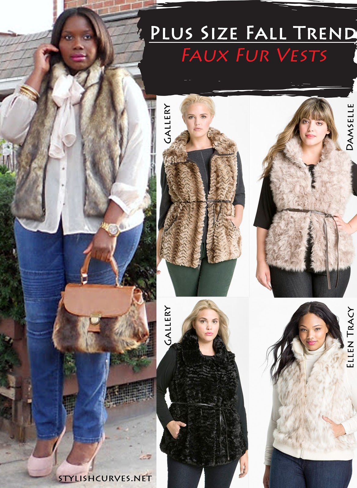plus size fur vest fall trend: plus size faux fur vests bylisqt