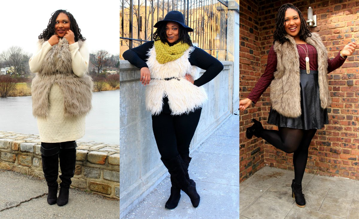plus size fur vest plus size fashion| styling faux fur vests - youtube chgozfp