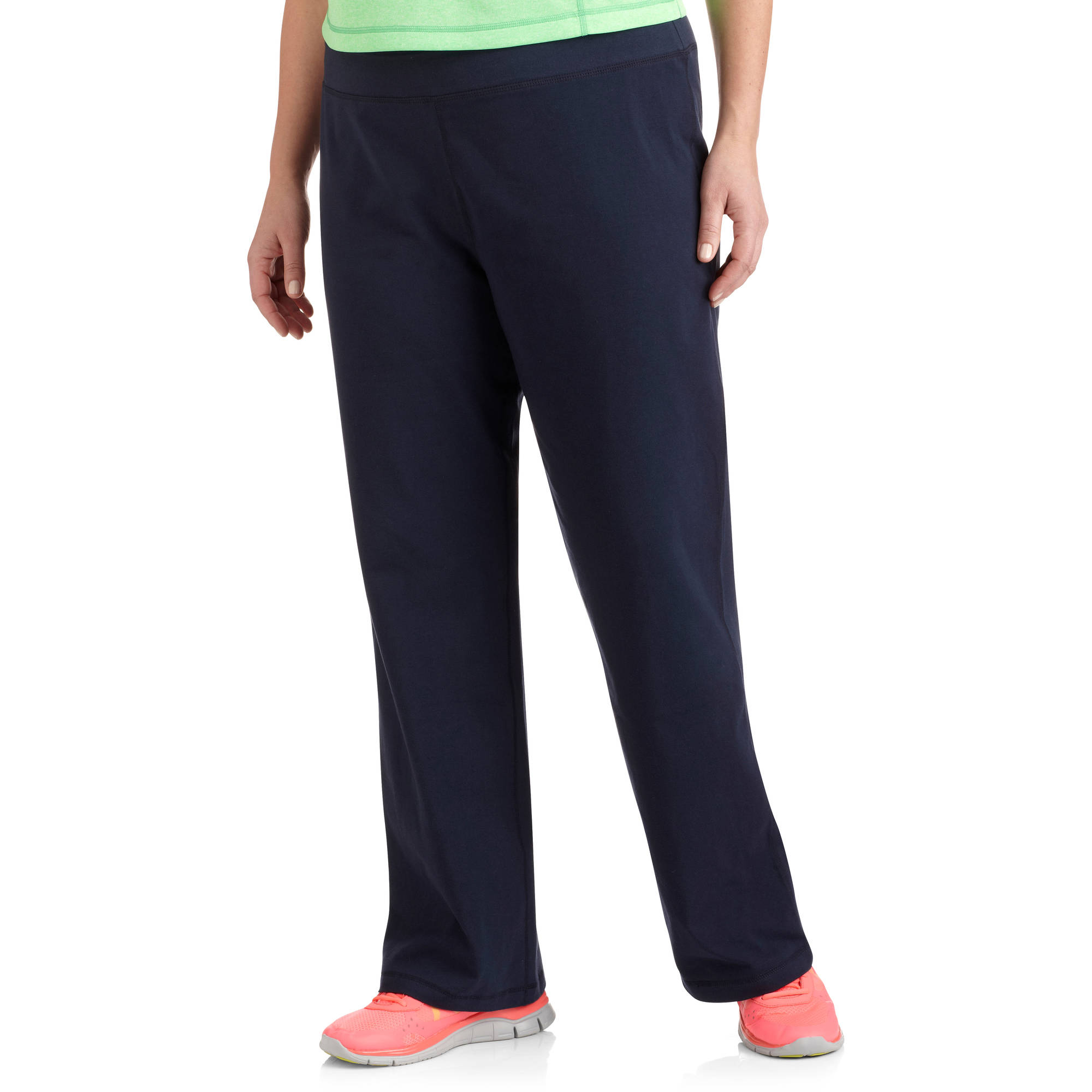 plus size pants danskin now womenu0027s plus size dri more core bootcut workout pants -  walmart.com coblaok