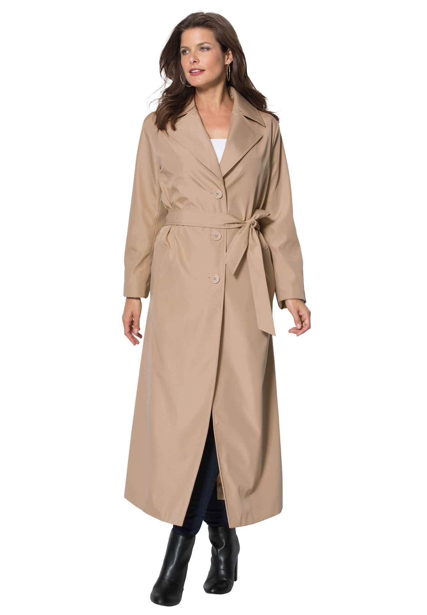 plus size trench coat maxi trenchcoat nitpqtc