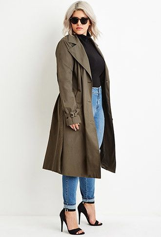 plus size trench coat plus size double-breasted trench coat | forever 21 plus - find it here: nyjjgyr