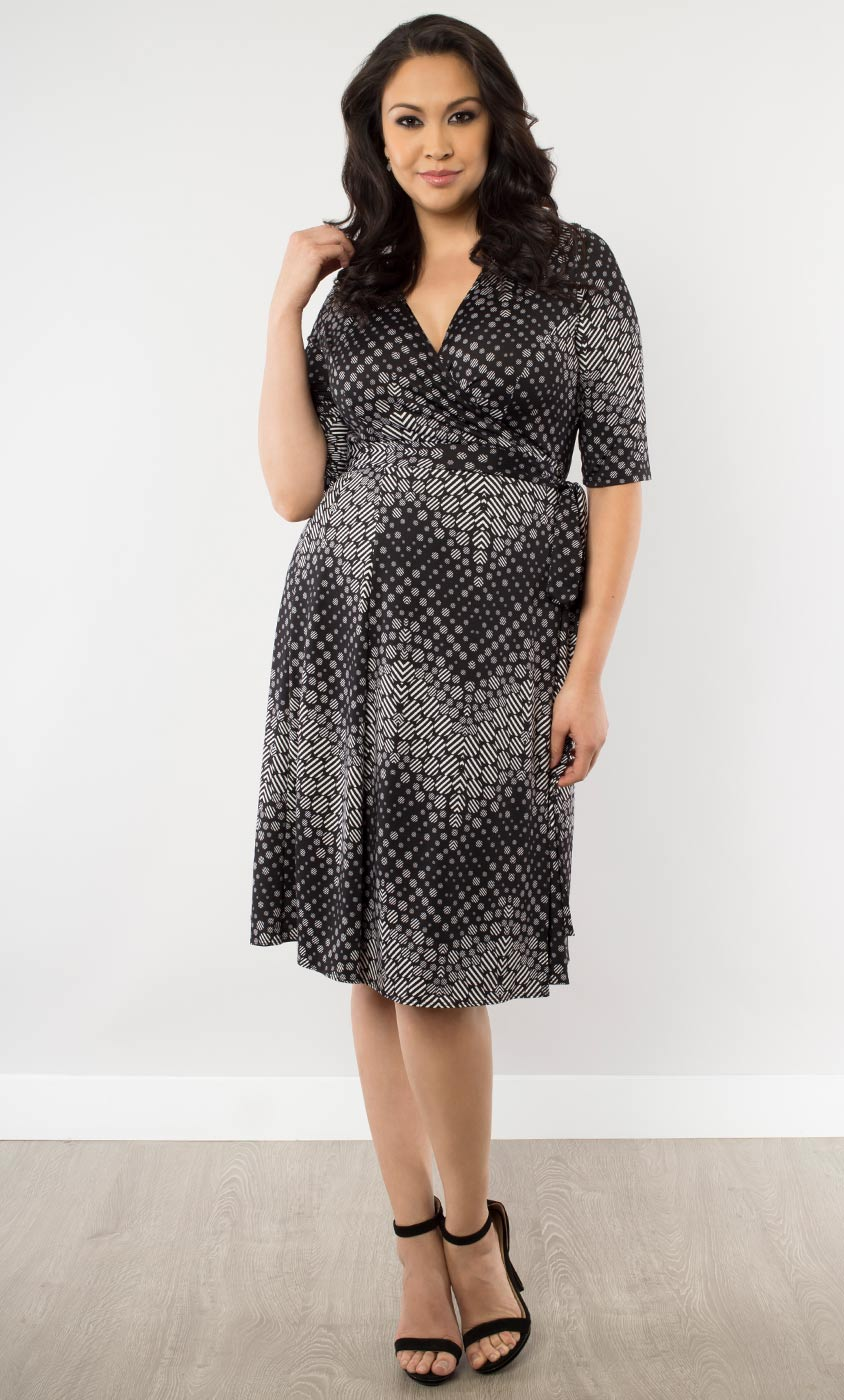 plus size wrap dress essential wrap dress in chevron print-sale wjzxpaa