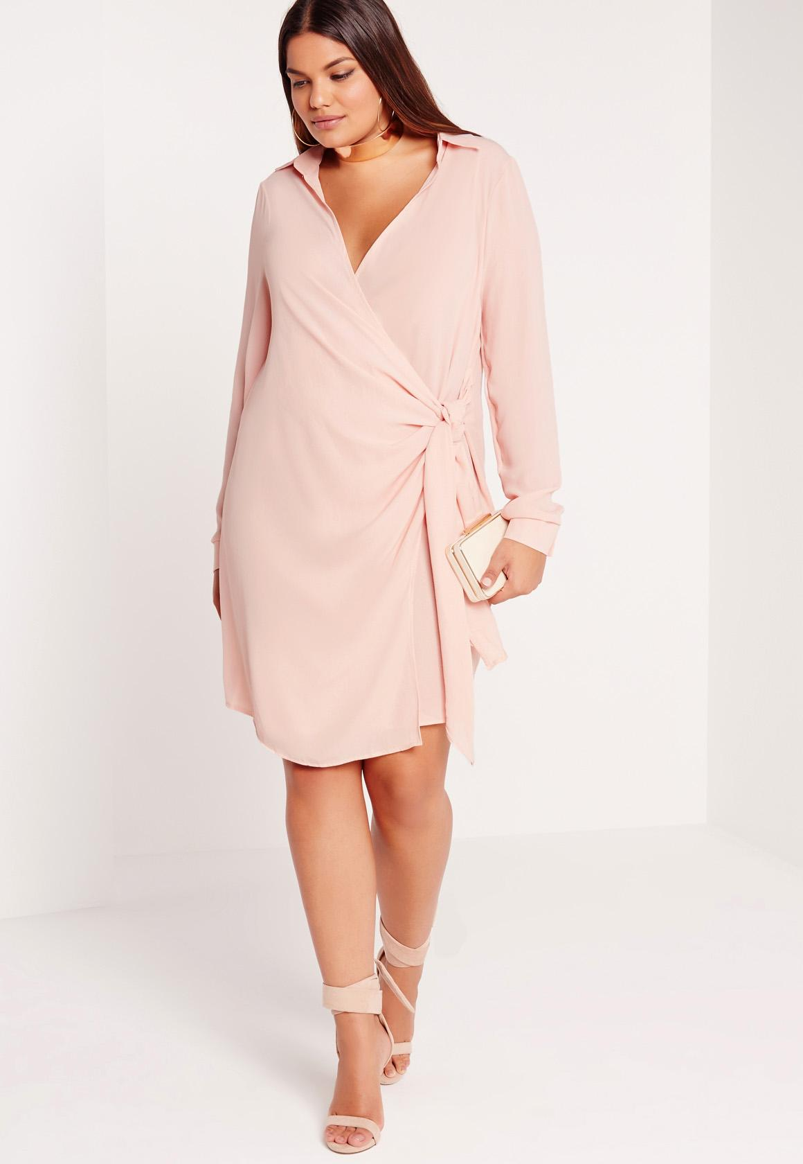 plus size wrap dress nude hwqyyhc