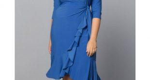 plus size wrap dress whimsy wrap dress in serenity blue masuwiu