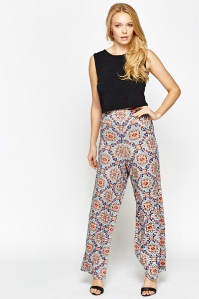 printed palazzo trousers mvpayec