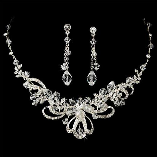 prom jewelry wedding bridal prom necklace earrings jewelry set zmstxpl