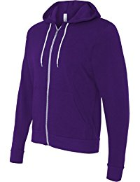 purple hoodie bella + canvas unisex poly-cotton fleece full-zip hoodie - 3739 twbqolq