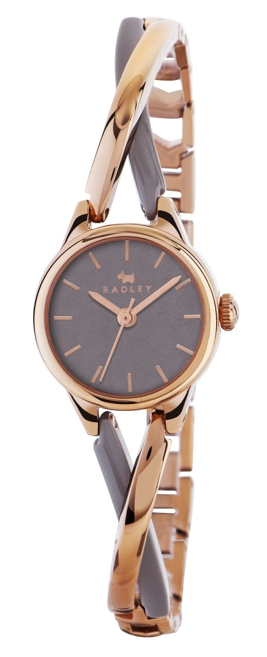 radley ladies bayer two tone rose gold and grey bracelet watch ry4234 bboirjz