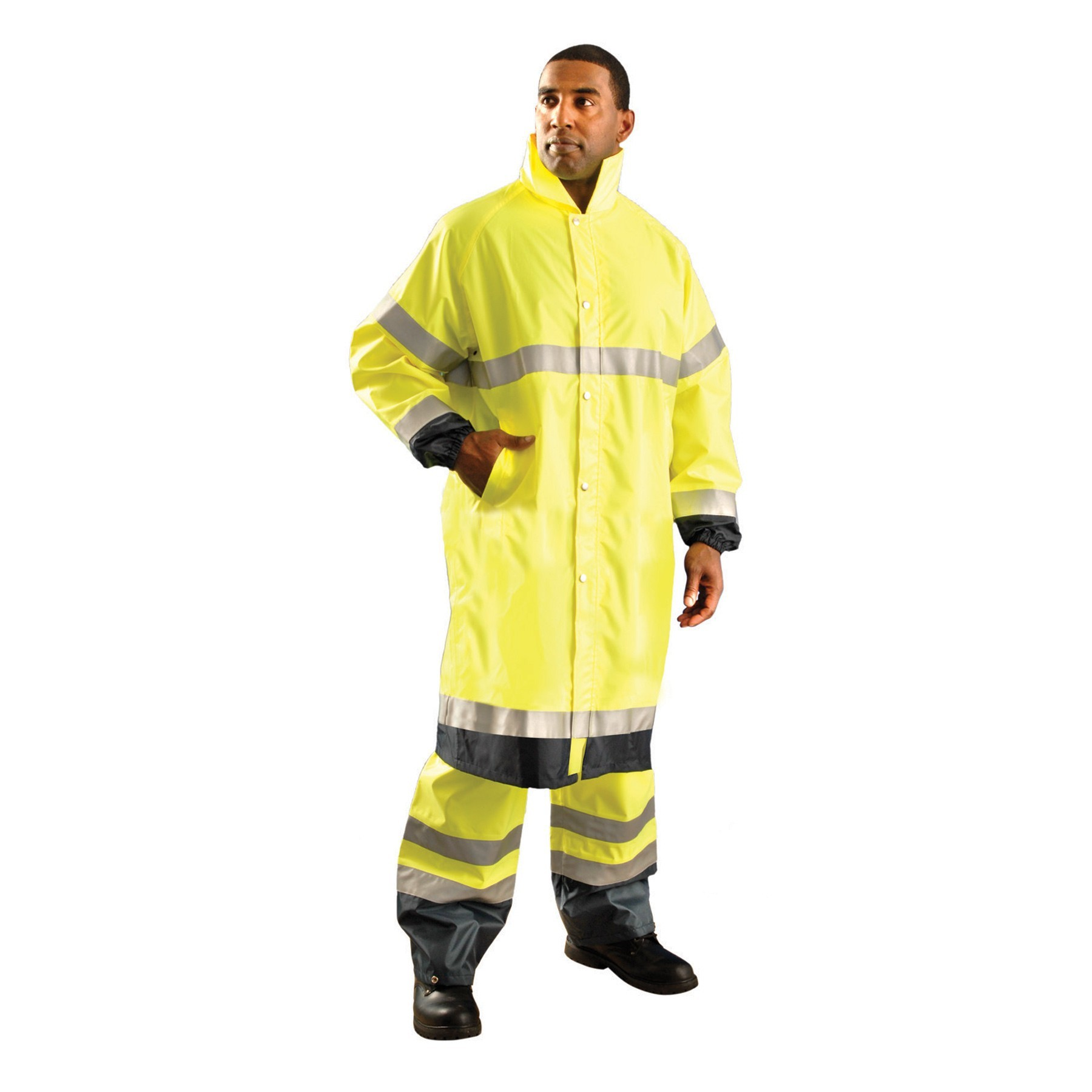 rain coat high vis yellow vdbouke