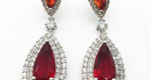 red earrings aliexpress.com : buy luxury zircon big waterdrop heavy drop earrings  sparkling aaa red cubic pmczdxz