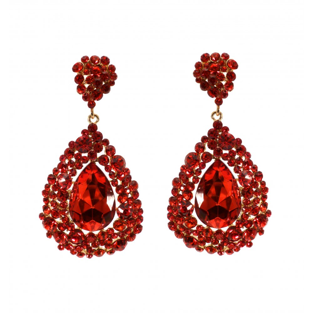 red earrings mujplur