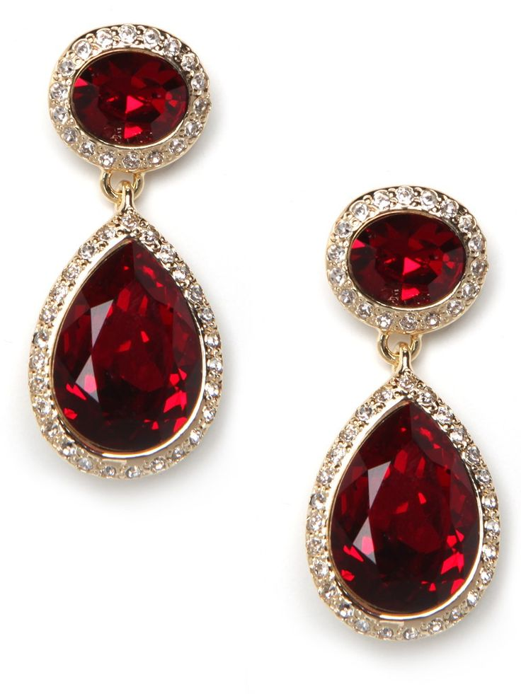 red earrings these stunning earrings are dripping with that royal je nais sais quoi.  reminiscent of etwpkkt