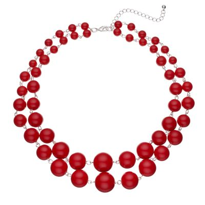red fashion necklaces, jewelry | kohlu0027s axsglxb