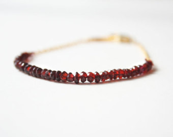 red garnet bracelet, january birthstone, red bracelet gsqkofn