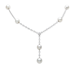 rent special occasion jewelry: pearl and diamond necklace | rental price -  $190.00 jmlhjxj