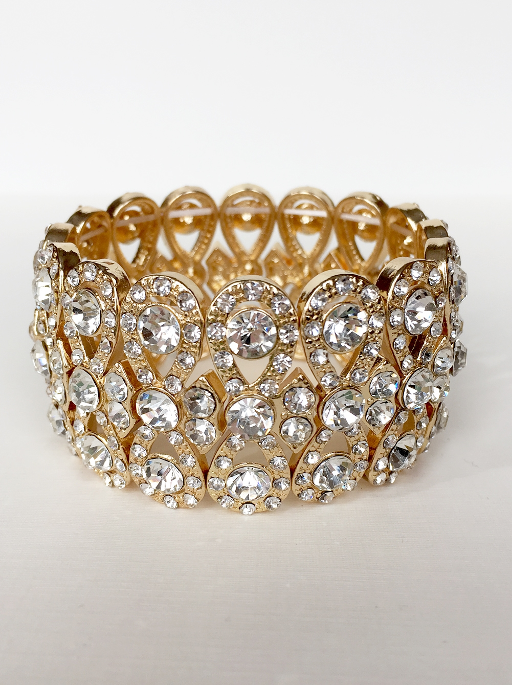 rhinestone bracelets isabelle gold rhinestone bracelet frtjthd