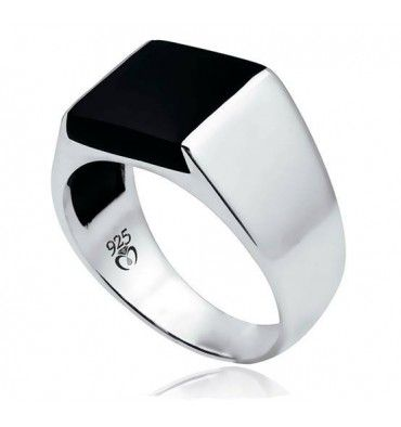 rings for men black onyx stone men ring in sterling silver from turkstyleshop.com |  silver jewelry ameazuz