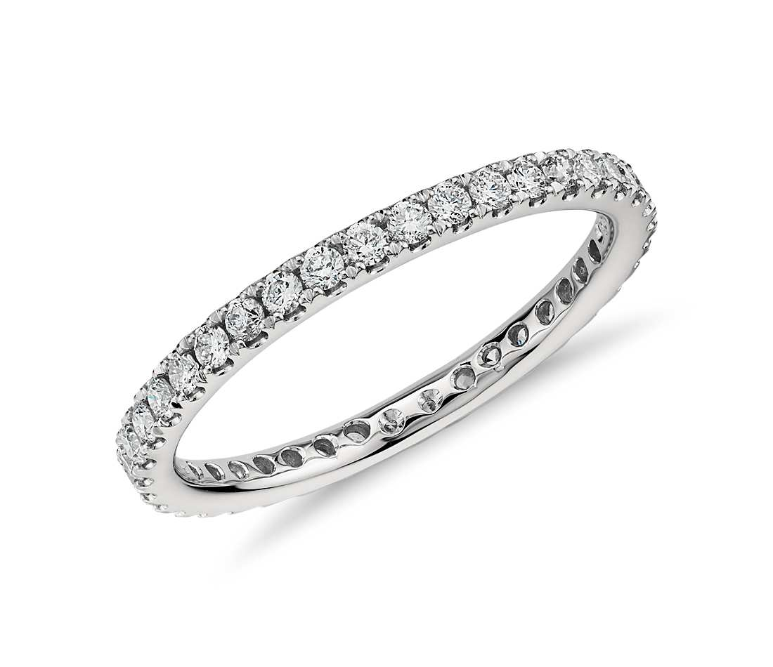 riviera pavé diamond eternity ring in platinum (1/2 ct. tw.) wlldsso