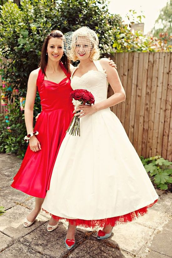 rockabilly wedding dress a 50u0027s halterneck wedding dress for a very british london wedding.  rockabilly ... yhppfkk