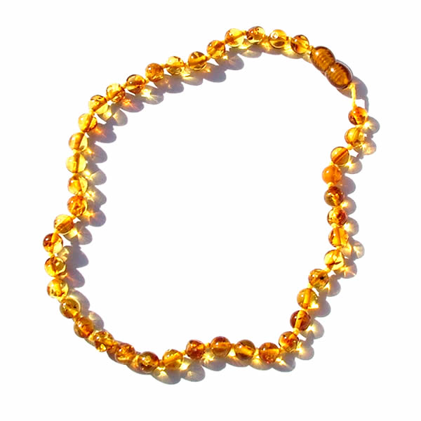round bead amber necklace LYLJAVY