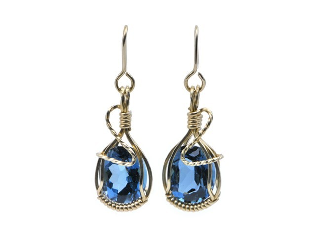 royal blue topaz earrings qygtufn