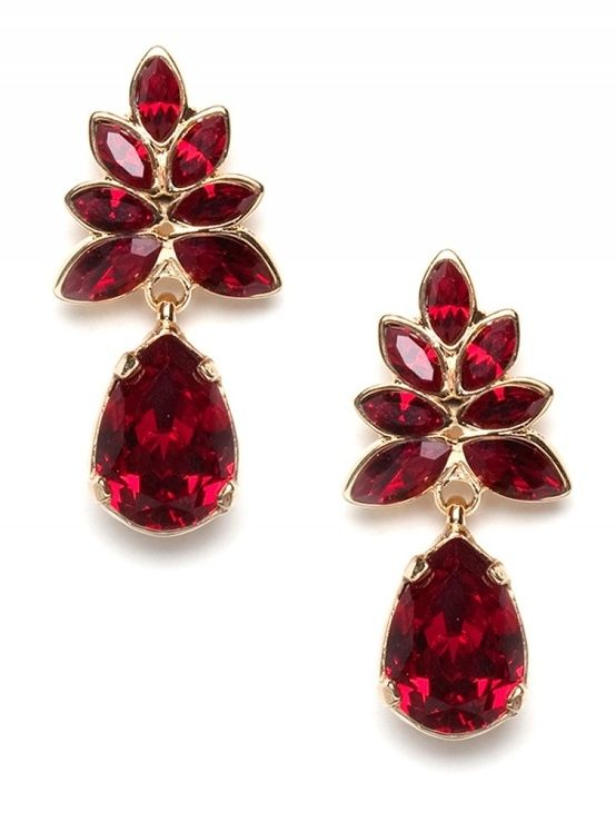 ruby red earrings by caught my eye yagtjqt