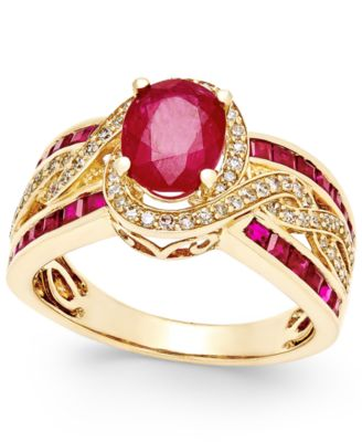 ruby ring ruby (2-3/4 ct. t.w.) and diamond (1/ hpnipha