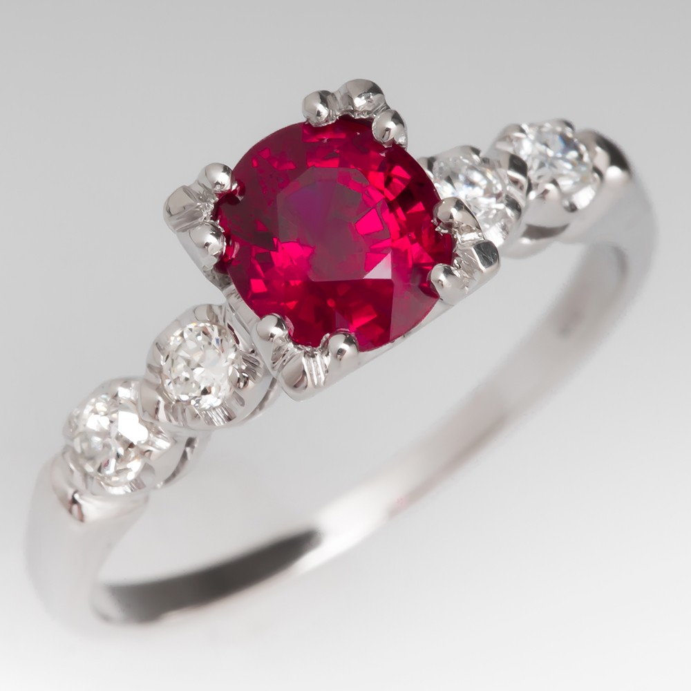colby june jewellery ruby product set ring
