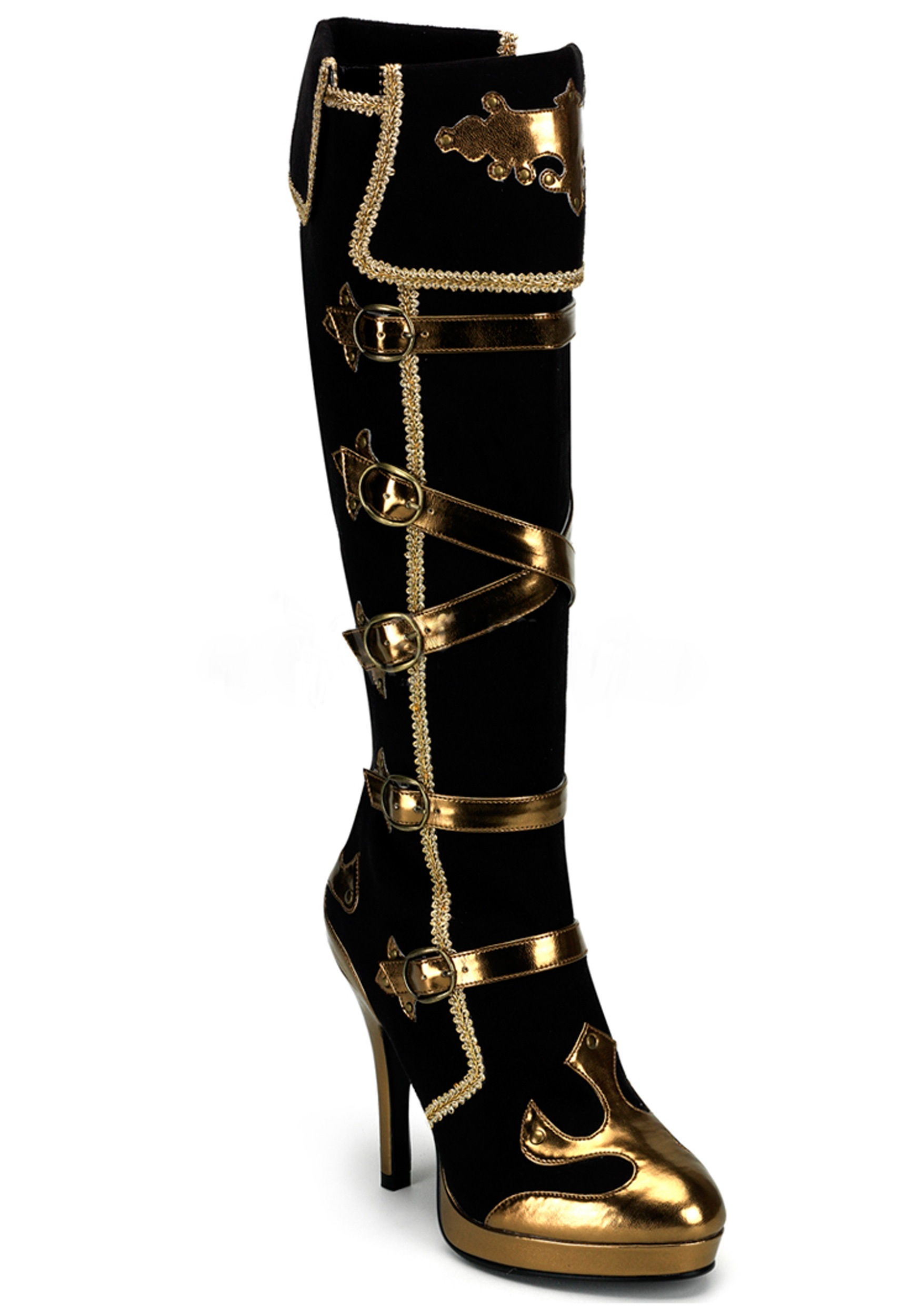sexy boots sexy black and gold pirate boots gosluoz