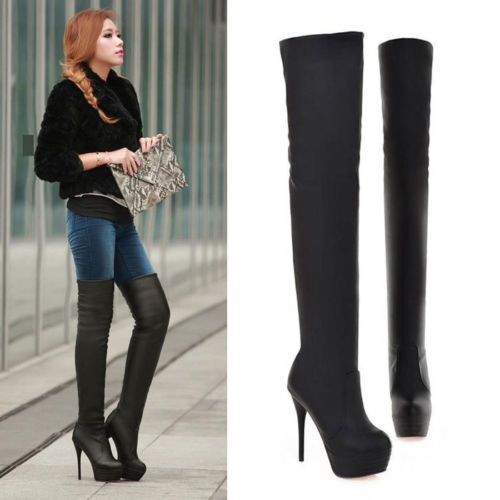 sexy boots womens sexy shoes over the knee boots party stilettos long boots sz us  4.5-us nzfatsl