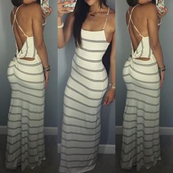 sexy maxi dresses summer dress maxi dresses sexy backless stripes strapless women dress  casual dresses plus size cprugvf