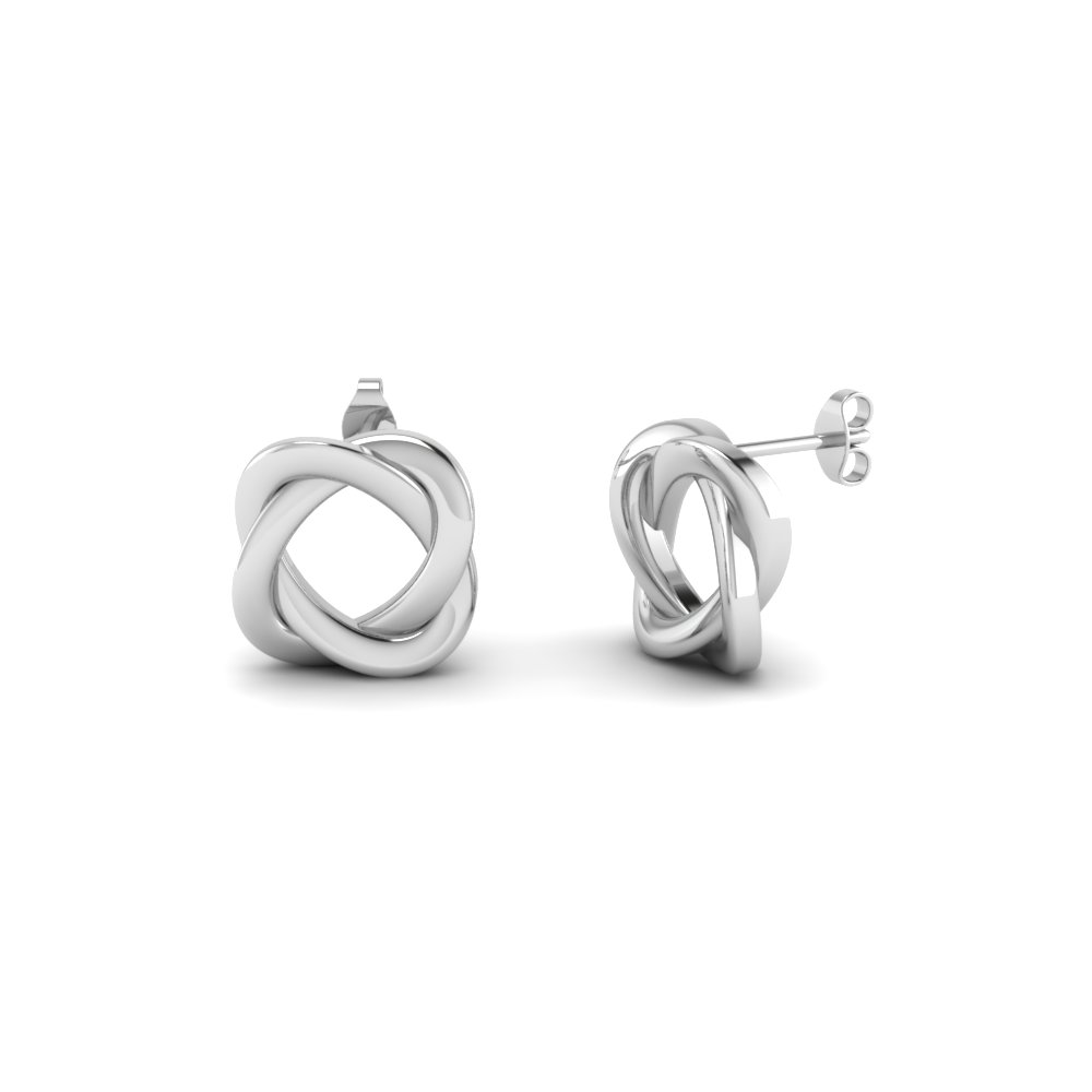 shop for custom designed 14k white gold earrings | fascinating diamonds xwkwegv